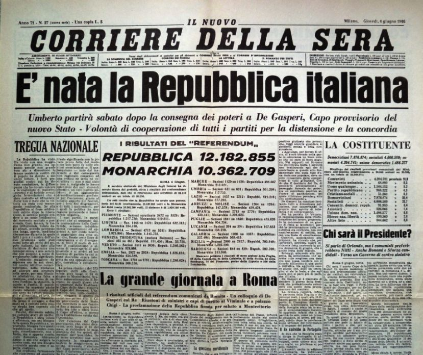 L'Italia del post-fascismo: monarchia o repubblica?