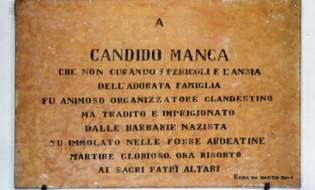 """Candido Manca, lo """"stradino"""" martire delle Ardeatine"""